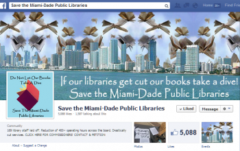 Save the Miami-Dade Public Libraries Facebook page